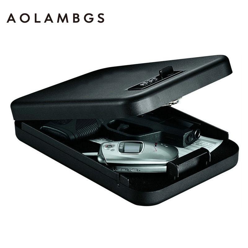 Password Safes portable car safe box handgun valuables money jewelry storage box security strongbox 1mm cold