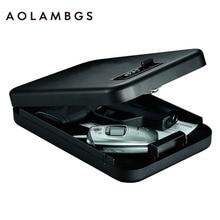 Пароль Сейфы портативный автомобильный сейф пистолет ценностей деньги ящик для хранения ювелирных изделий безопасности сейф 1 мм холоднокатаной стали лист