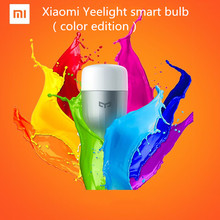 Original Xiaomi mi Yeelight  e27 dimmable LED Smart Bulb Smartphone App WIFI Remote Control Light 8W  Color/white Mi Light
