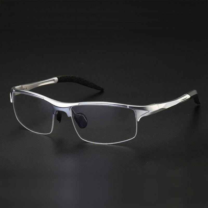 8177 משקפיים אופטיים מסגרת לגברים Eyewear מרשם משקפיים משקפיים מסגרת משקפיים חצי שפת אדם סגסוגת