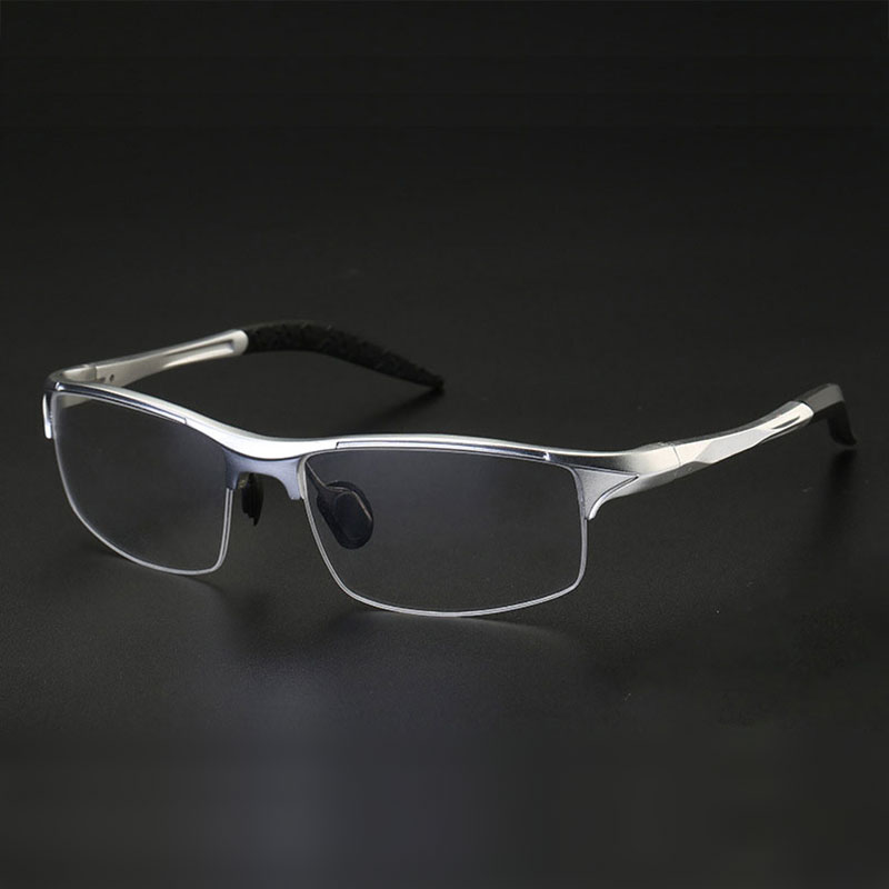 8177 Optical Eyeglasses Frame for Men Eyewear Prescription Glasses Half Rim Man Spectacles Alloy Frame Eyeglasses