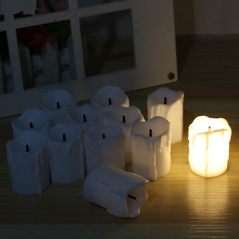 12 kom / puno LED električne baterije Powered Tealight svijeće - LED Rasvjeta - Foto 2