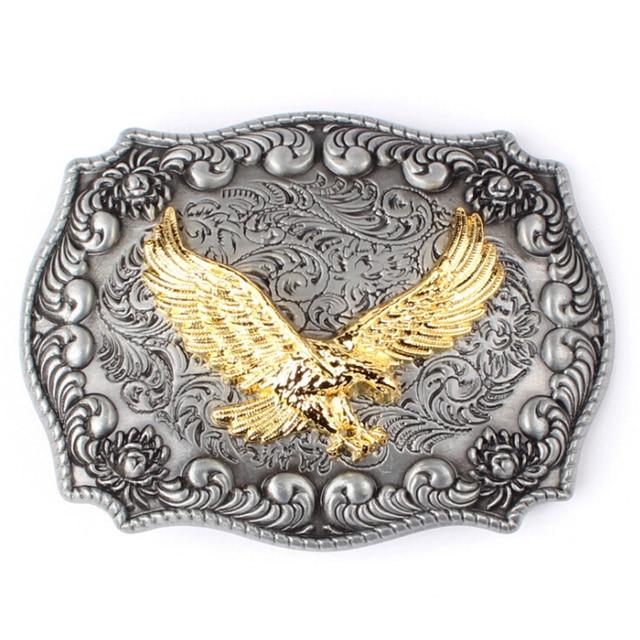 e5713ef91050 Ceinture aigle boucle Western cowboy style ceinture boucle d or aigle boucle  ceinture tête punk