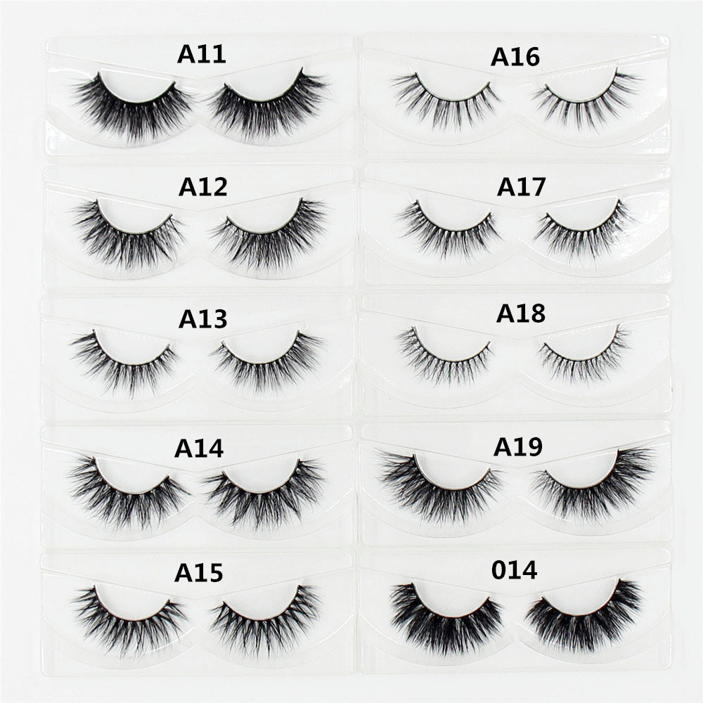 AMAOLASH 3D Mink Lashes Handmade Individual Eyelashes Natural Long Mink False Eyelashes Extension Makeup Fake Lashes Faux Cils