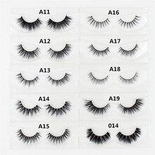 AMAOLASH 3D Mink Lashes Handmade Individual Eyelashes Natural Long Mink False Eyelashes Extension Makeup Fake Lashes faux cils
