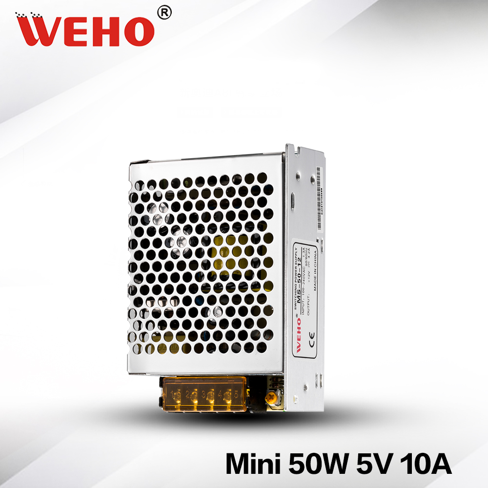 (MS-50-5) Factory outlet ! switching power supply, 85-264VAC input 5VDC output 50w led driver rps369 10 pieces per lot 36 vdc 9 7a regulated switching power supply with 85 132 176 265 vac input