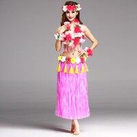 6 قطعة/المجموعة الأزياء ازياء النساء التنانير تنورة هاواي حولا العشب ألياف البلاستيك 80 سنتيمتر السيدات واللباس احتفالي وحزب لوازم