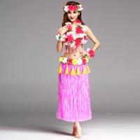 6PCS/set Fashion Plastic Fibers 80cm Hula Skirt Hawaiian costumes Women Grass Skirts Ladies Dress Up Festive & Party Supplies