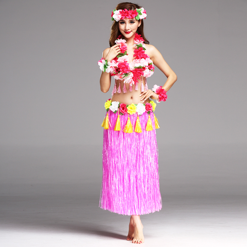 6PCS/set Fashion Plastic Fibers 80cm Hula Skirt Hawaiian costumes Women Grass Skirts Ladies Dress Up Festive & Party Supplies6PCS/set Fashion Plastic Fibers 80cm Hula Skirt Hawaiian costumes Women Grass Skirts Ladies Dress Up Festive & Party Supplies