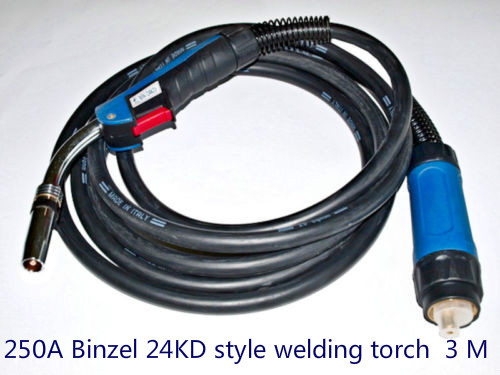 ФОТО BINZEL STYLE 250A MB24KD (3-METERS) MIG WELDING TORCH / GUN (EURO CONNECTOR)