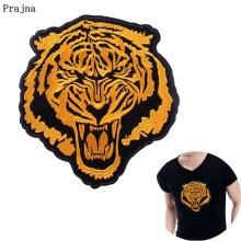 Prajna lion Biker Patches Sew On Badges Animal Stickers Punk Rock Coat Accessories DIY Jeans T-shirt Iron On Patch Emo applique