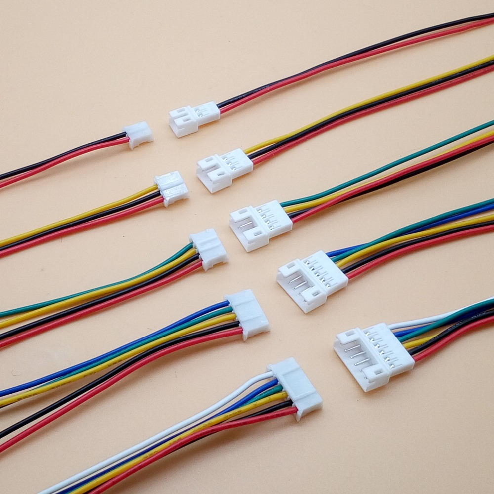 20Pair Mini Micro JST 1.25mm PH 2-Pin Male/&Female Connector Plug Wires Cables