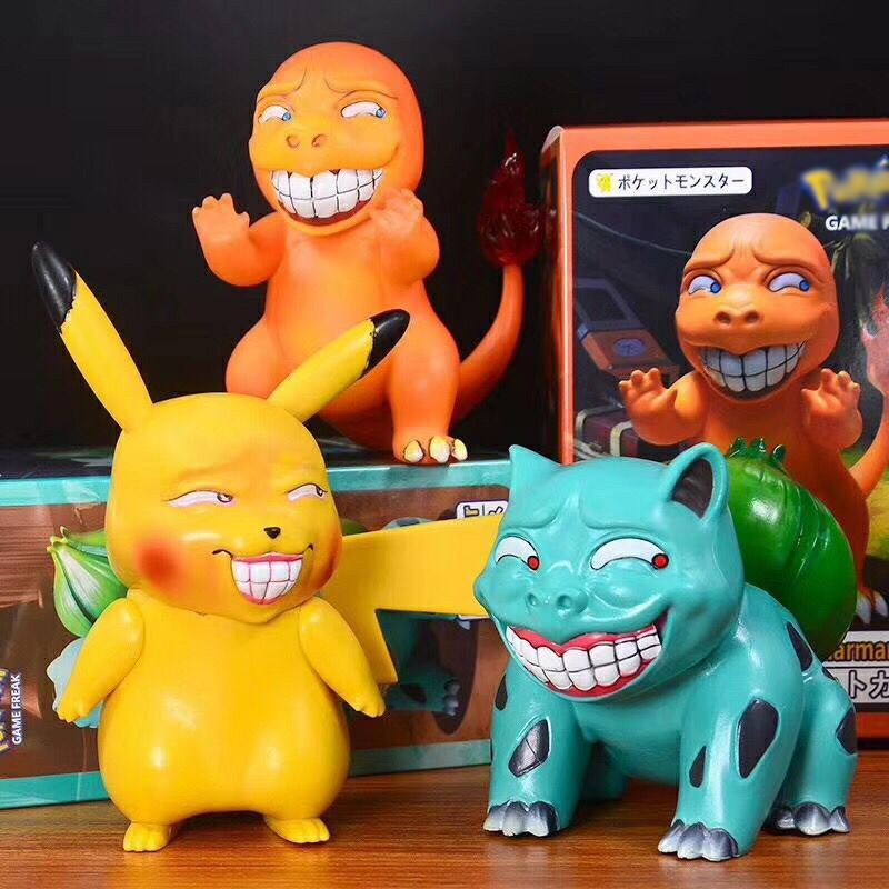 Anime Pikachu & Bulbasaur & Squirtle & Christmas Charmander Funny obscene Ver. Action Figure Model Toys