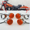 Motorcycle LED Bullet Front Rear Turn Signal Light 41mm Relocation Fork Clamp For Harley Davison Free Shipping