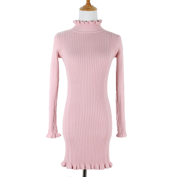 High Quality Women Cashmere Sweaters Pullovers Turtleneck Long Sleeve Sweater Dress 2019 Knitting Women's Warm Sweater Clothes