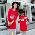 Long Sleeve Sweatshirts Mother Daughter Tops Family Matching Clothing Set Mummy Girl Hoodies Women Girl Spring Cotton Tee CB617