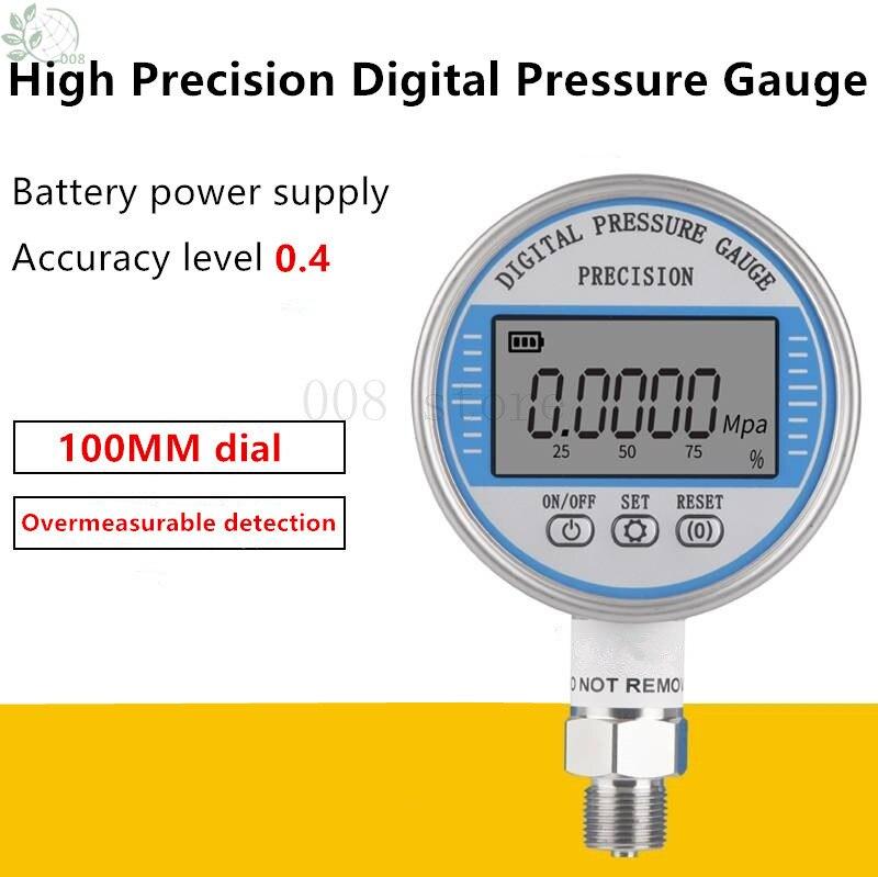 HC-YS100 Intelligente En Acier Inoxydable Batterie Manomètre Numérique Haute Précision Sismique Précision de Pression D'eau Numérique Pres