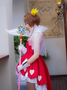 "Image 3 - 44.8 ""comprimento cardcaptor sakura claro cartão kinomoto sakura cosplay estrela sonho vara varinha mágica festa de halloween cosplay adereços novo"