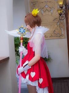 """Image 3 - Longitud de 44,8 """"Sakura Cardcaptor tarjeta claro Kinomoto Sakura Cosplay estrella sueño palo varita mágica Halloween accesorios de Cosplay para fiesta nuevo"""