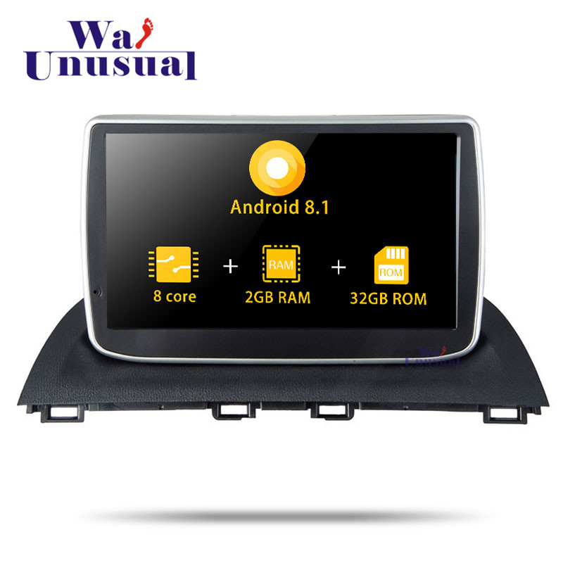 Autoradio 9 Inch Octa Core Android 8.1 Car Multimedia Player For <font><b>Mazda</b></font> <font><b>3</b></font> Atenza 2014 2015 2016 Car Radio With BT WIFI <font><b>Maps</b></font> 2din image