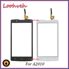 "High quality 4.5"" Replacement Part For Lenovo A2010 Cell Phone Lens Digitizer Touch Screen Glass Panel A2010 Touchscreen Sensor(China)"
