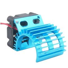 Motor Heat Sink Radiator With Cooling Fan for 1/10 HSP RC Car 380 390 Motor t400 heat sink and fan intergrated 45n5086 45n5087 45n6142 45n6143 original