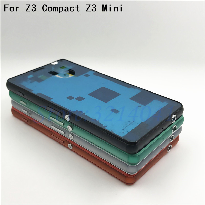 Original For Sony Xperia Z3 Compact Z3 mini D5803 D5833 Housing cover bezel front faceplate Middle Bezel Middle frame