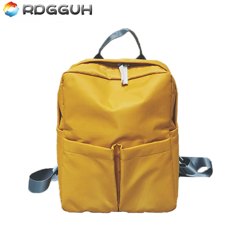 RDGGUH Brand Fashion Backpack Women High Quality School Bag For Teenager Girls Nylon Laptop Backpack Casual Travel Bags Mochila