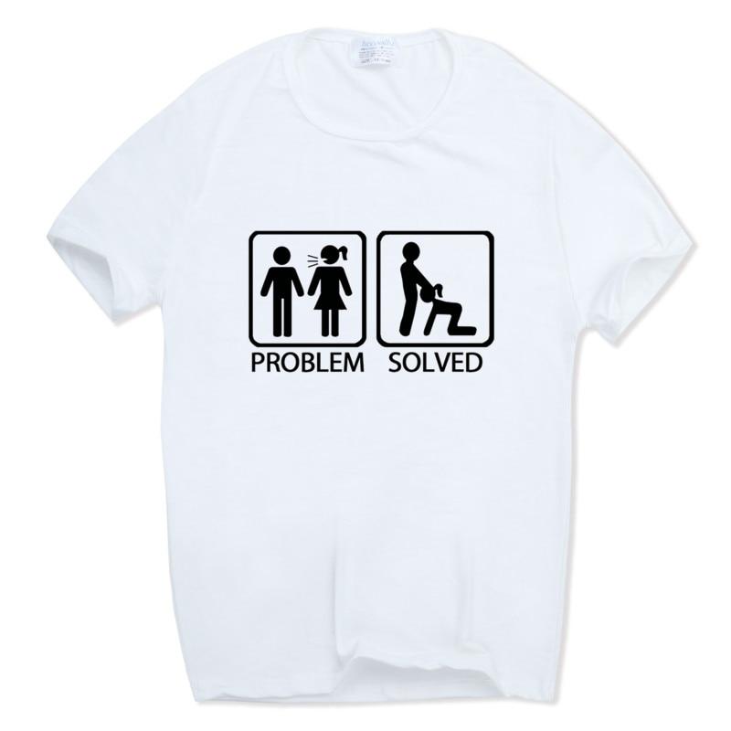 Hecoolba 2017 남자 인쇄 문제 해결 된 티셔츠 오 - 넥 반팔 여름 카스 쿨 웃기는 성인 유머 옴므 티셔츠 HCP829