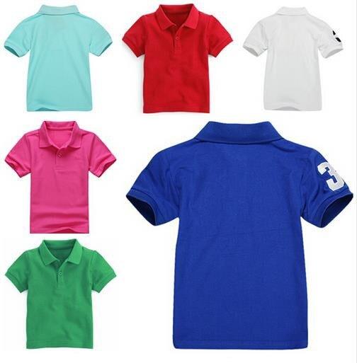 Nueva venta caliente niños de marca de los niños ropa camiseta de los niños camiseta bebé niño de manga corta T camisas niños es Ropa venta al por menor