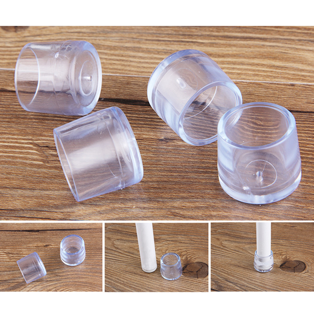 Superieur 24pcs X15mm Plastic Rubber Chair Leg Protector Pads For Chair Legs Caps  Protectors Pads Furniture Cover