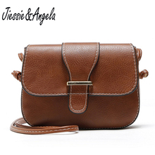 Jiessie&Angela Vintage Women Small  Shoulder Bag High Quality Fashion Crossbody Messenger Bags Handbag Bolosa