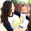 Familia A Juego de Ropa de La Madre Del Bebé Niños de Algodón de Manga Larga Camiseta de La Camiseta Tops You are My Sunshine Familia Partido Ocasional Traje
