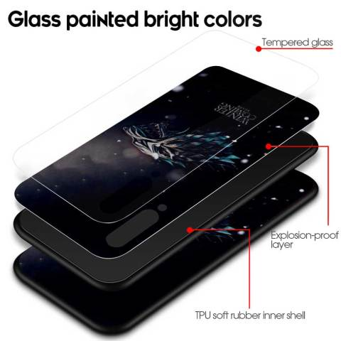 Game Of Throne House Tempered Glass Case for Xiaomi Redmi Note 7 6 Pro K20 Pro Redmi 7 Mi 9 Cell Mobile Phone Cases Cover Coque Lahore