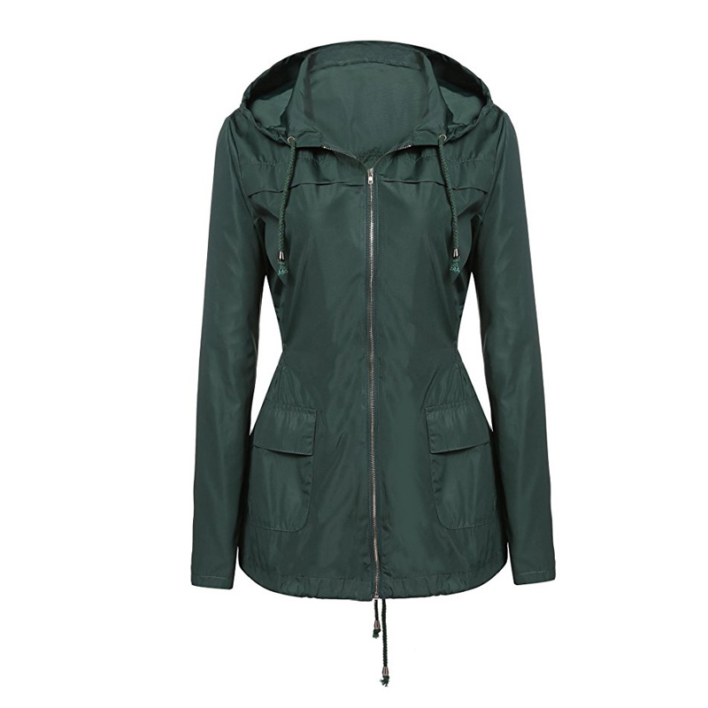 088970a599b Windbreaker Women Long Sleeve Autumn Womens Jacket 2019 Hooded Spring  Jackets Oversized Waterproof Outerwear Rain coats