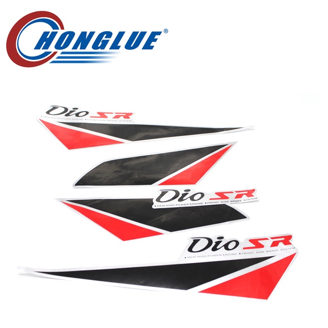 Honglue 5pcs motorcycle body stickers body logo stickers for the honda dioaf17 af18 af27