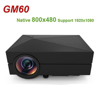 GM60 Hand held mini LCD projector Native 800x480 MAX 1920x1080 Support HDMI Multichip Coated lens 1000 lumens