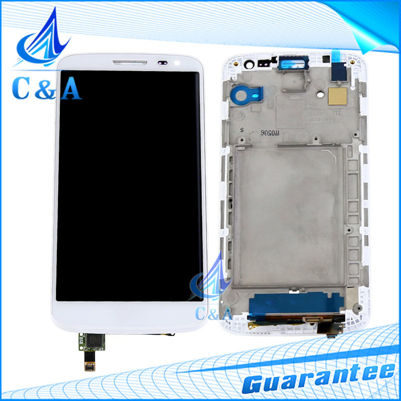ФОТО Black/White Replacement Parts for LG G2 Mini D620 D618 LCD Display Screen with Touch Digitizer with Frame 10 pcs Free DHL/EMS
