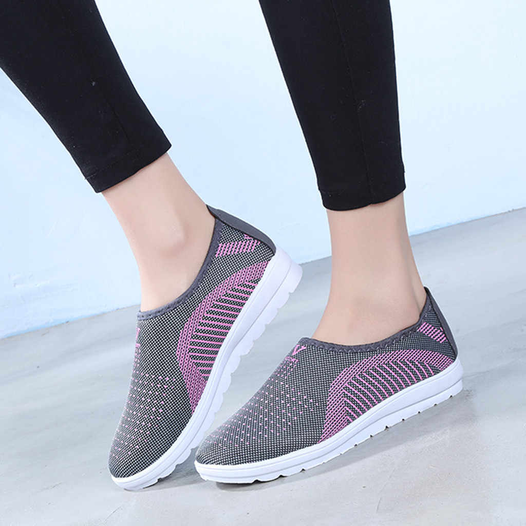 Vulcanized Shoes Autumn Mesh Flat With