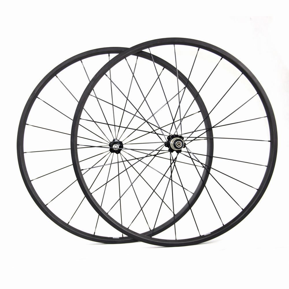 Cheap bike wheels high quality carbon road wheels carbon 24mm clincher wheels 20mm tubular bicycle road wheels