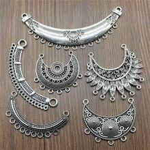 3 шт./лот, античный серебряный цвет, ожерелье, соединитель Подвеска-шарм, ювелирный соединитель, Подвески для изготовления ожерелья, ювелирных изделий