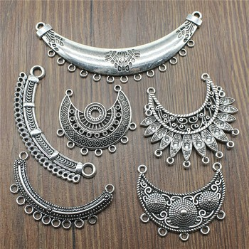 Antique Silver Color Necklace Connector Charms Pendant Jewelry Connector Necklace Jewelry Making