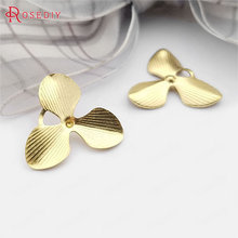 Jewelry-Findings-Accessories Pendants Charms Flower Brass Wholesale 18MM 30571-2