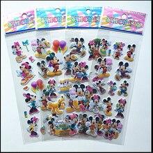Так Мило!!! 6 шт. Прекрасные мыши Наклейки мерное 3D мультфильм ПВХ наклейки пузырь девушки/мальчики подарок на день рождения детские игрушки
