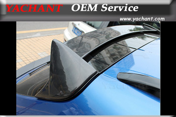 Car-Styling Auto Accessories Carbon Fiber Rear Spoiler 3 Pcs Fit For 2014 Macan Roof Spoiler Wing