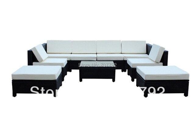9 stücke Luxus Wicker Patio Sectional Indoor Outdoor Sofa Möbel set ...