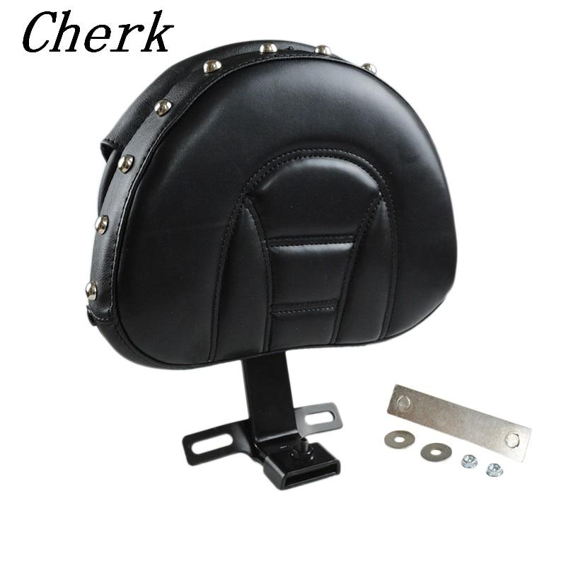 Black Motorcycle Detachable Plug-in Adjustable Driver Backrest Kit For Harley Fatboy Heritage Softail 2007-2017 chrome custom motorcycle skeleton mirrors for harley davidson softail heritage classic