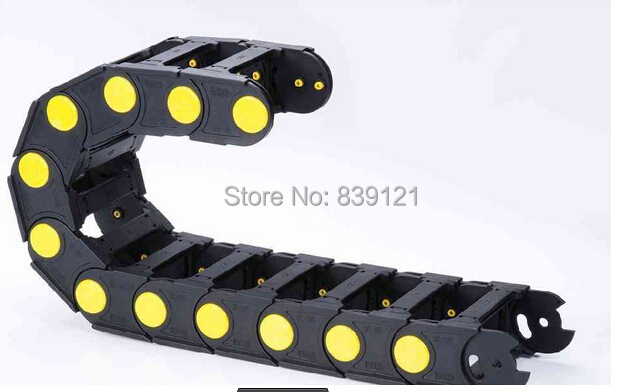 45x75 mm Cable drag chain wire carrier with end connectors plastic towline for CNC Router Machine Tools 1000mm