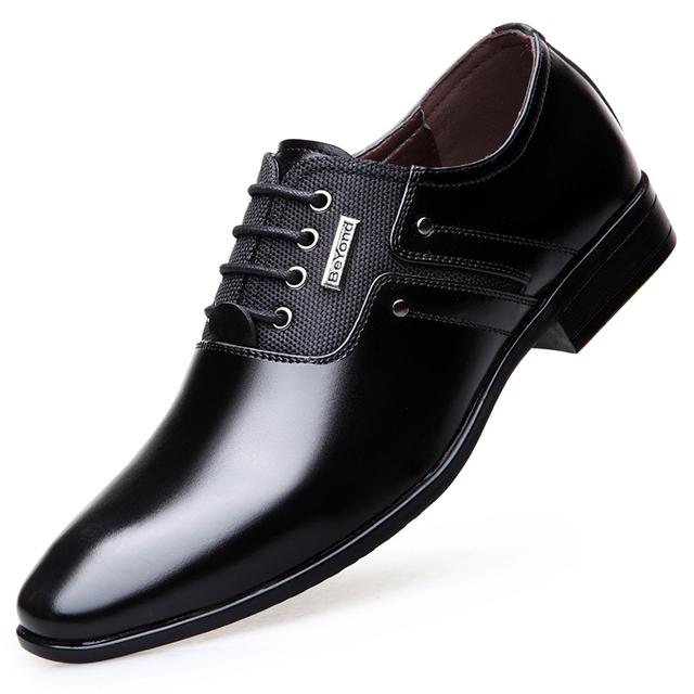 Plus Size 48 Men Dress Shoes Quality Men Formal Shoes Lace-up Men shoes leather Business oxfords Brand Men wedding shoes loafers