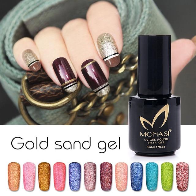 Monasi Vendita Calda Sabbia Gel Soak Off Matte Matt Color Uv Led Nail Lacquer